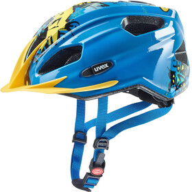 UVEX Quatro Junior Helmet blue/yellow